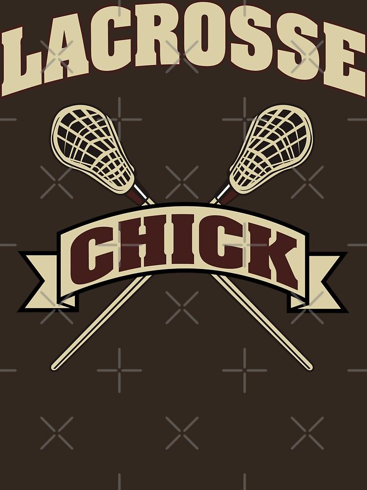 Lacrosse Chick Dark by SportsT-Shirts