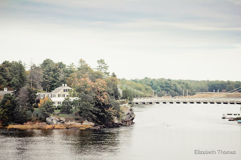 Merrimack River in New Hampshire by Elizabeth Thomas