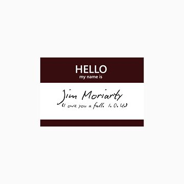 Jim Moriarty Name Tag by blackoutart