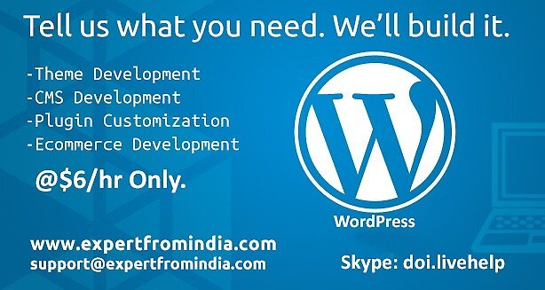 WordPress development services by expertfromindia