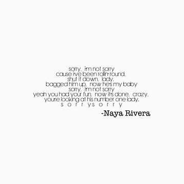Naya Rivera-Sorry by Jboo88
