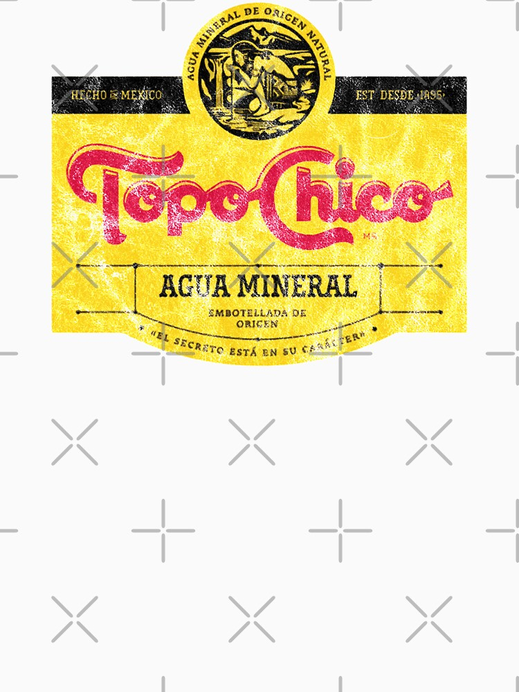 Topo Chico agua mineral worn and washed logo (sparkling mineral water) by carlosvela1123