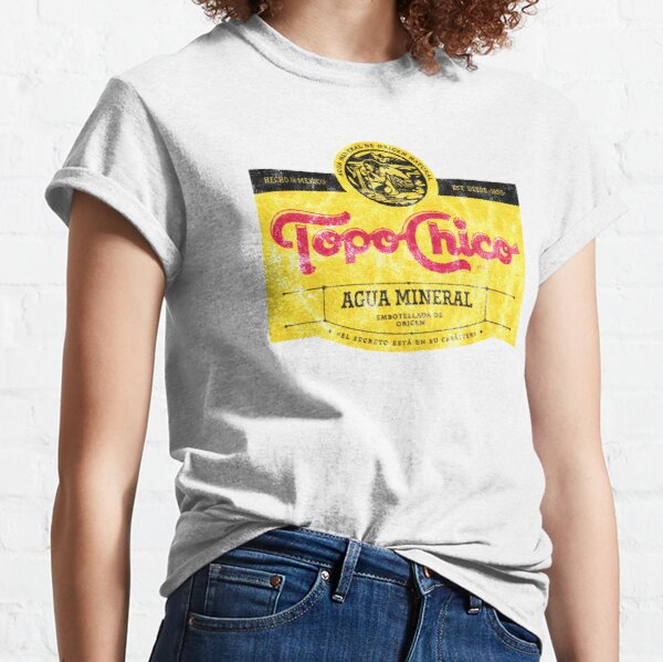 Topo Chico agua mineral worn and washed logo (sparkling mineral water) Classic T-Shirt