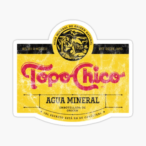 Topo Chico agua mineral worn and washed logo (sparkling mineral water) Sticker