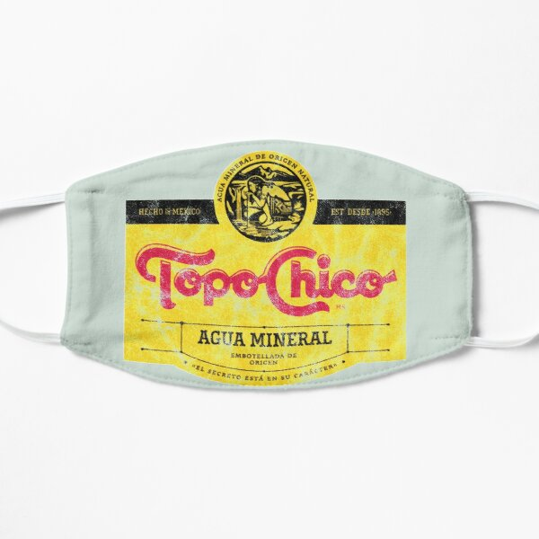 Topo Chico agua mineral worn and washed logo (sparkling mineral water) Flat Mask