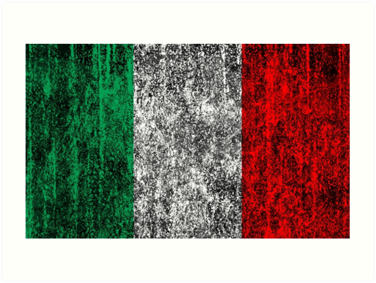 distressed italian flag by maydaze