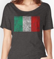 distressed italian flag Women's Relaxed Fit T-Shirt