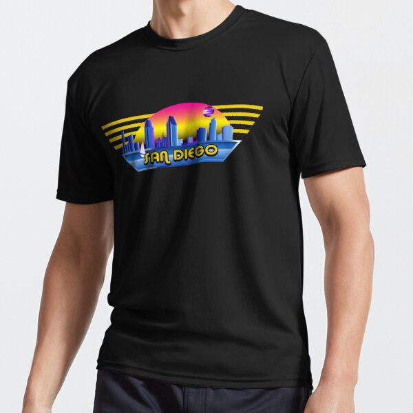 San Diego Landscape Eighties Style Active T-Shirt