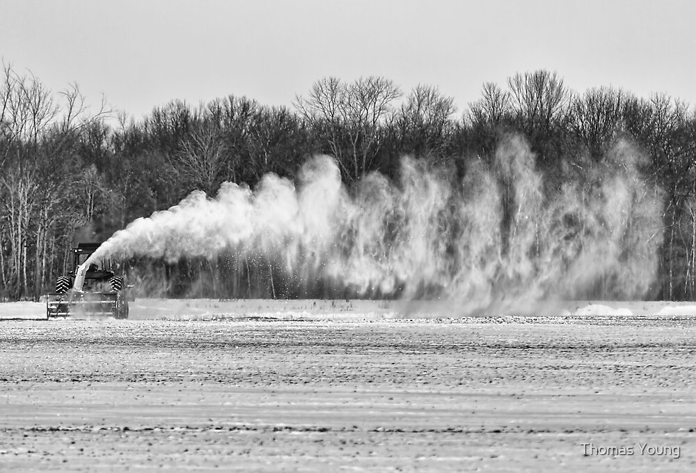 Airfield Snow Blower  by Thomas Young