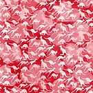 Pink Kangaroos on Harts Bakground by JumpingKangaroo