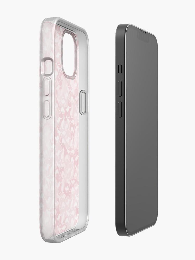 Alternate view of Pink Kangaroos on Harts Bakground iPhone Case