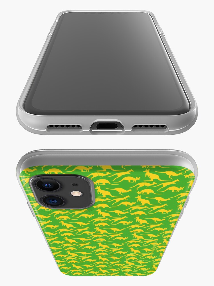 Alternate view of Australian colours Kangaroos - gold and green iPhone Case & Cover