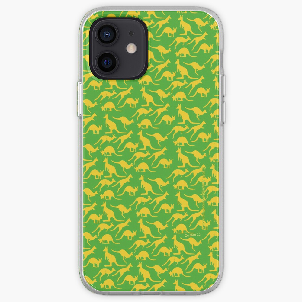 Australian colours Kangaroos - gold and green iPhone Case & Cover