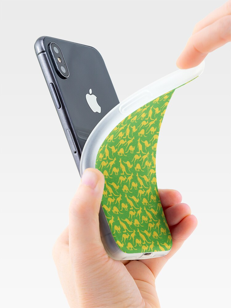 Alternate view of Australian colours Kangaroos - gold and green iPhone Case