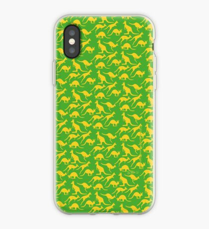 Australian colours Kangaroos - gold and green iPhone Case