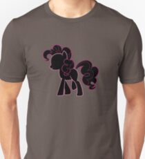 Pinkie Pie lines on black T-Shirt