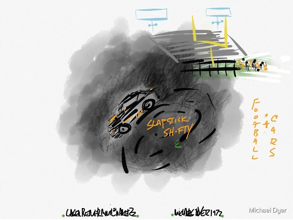 Football $ Cars by Michael Dyer by Michael Dyer