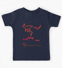 Boing boing boing kangaroo hopping orange Kids Clothes