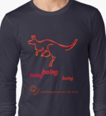 Boing boing boing kangaroo hopping orange Long Sleeve T-Shirt
