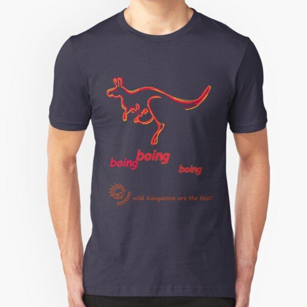 Boing boing boing kangaroo hopping orange Slim Fit T-Shirt