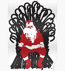 Christmas Is Coming - Candy Cane Throne Poster