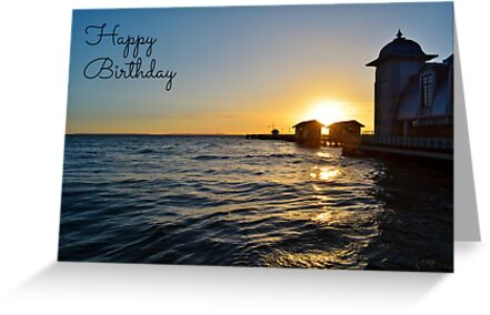 Penarth Pier Birthday Card by Paula J James