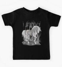 Ivory .. a white stallion Kids Tee