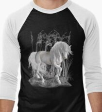 Ivory .. a white stallion Men's Baseball ¾ T-Shirt