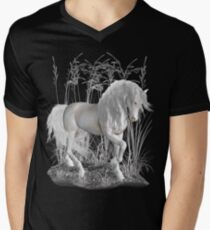Ivory .. a white stallion Men's V-Neck T-Shirt