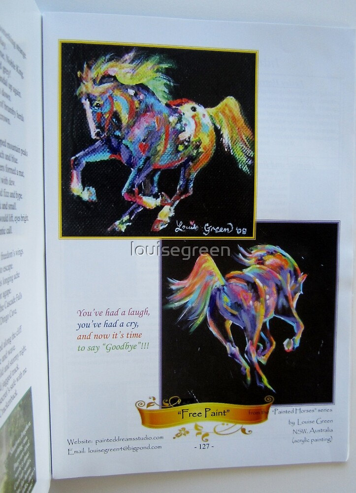 """Painted Ponies"" in equine poetry book by louisegreen"