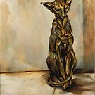 Still Life with Cat Sculpture by JolanteHesse