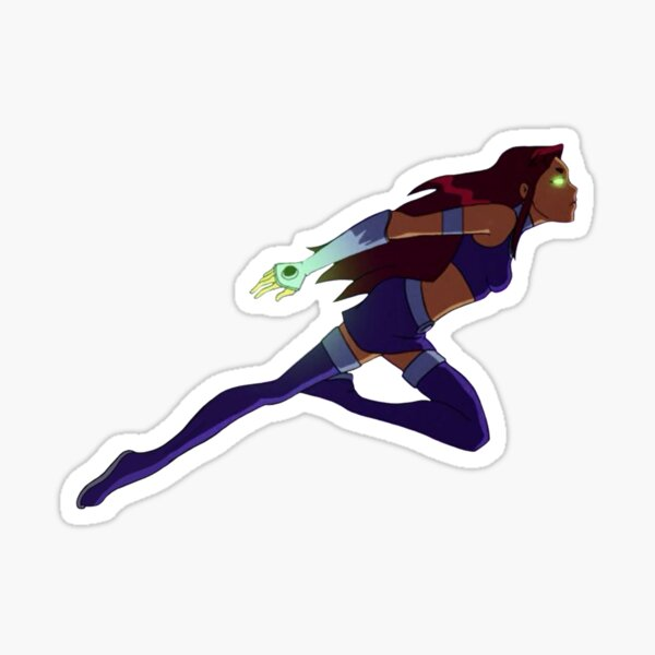 Starfire Teen Titans Flying Sticker