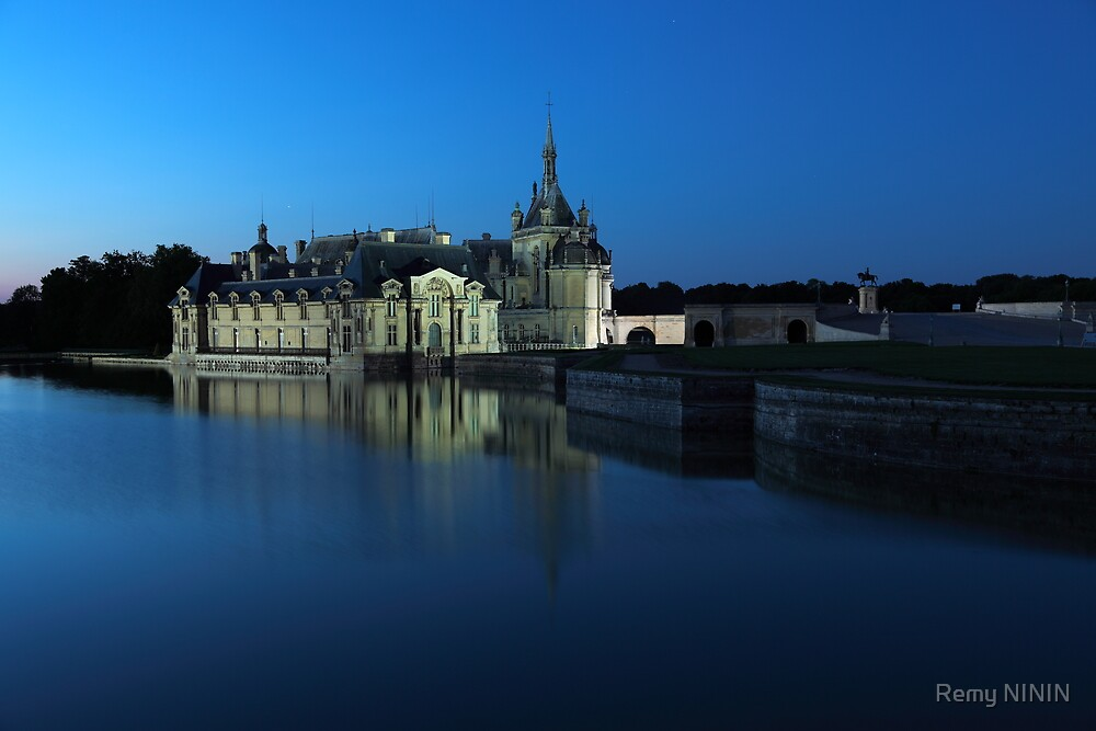 Chantilly, the castle in blue, Oise, France. by Remy NININ