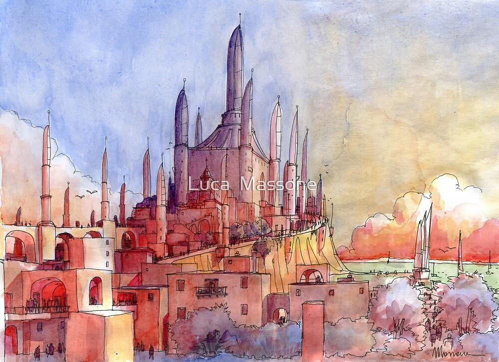 Tempio di fantasia by Luca Massone  disegni
