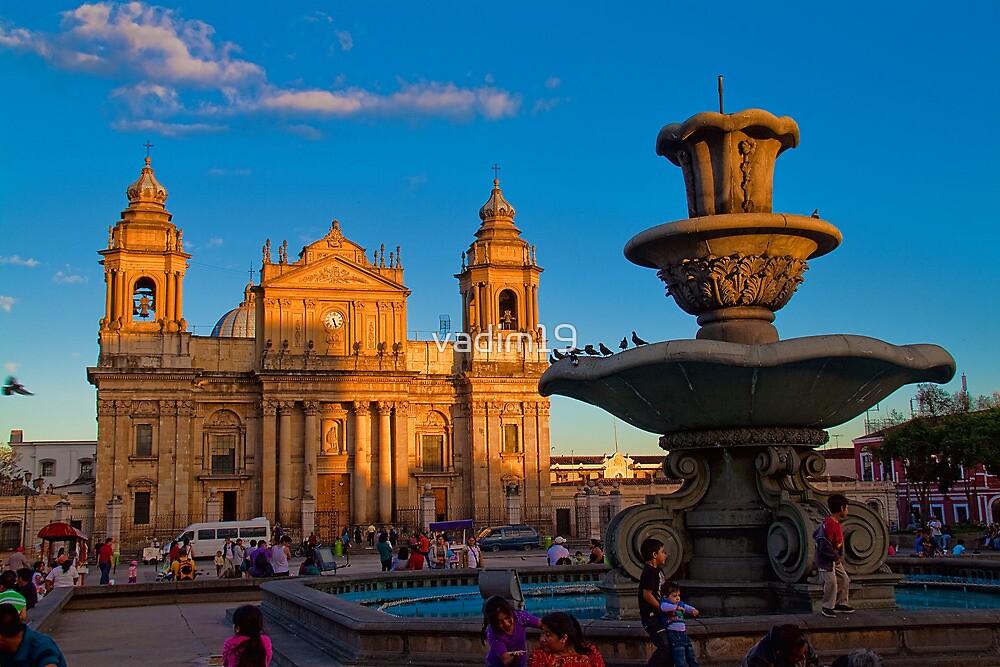 Guatemala. Guatemala City. Cathedral & Fountain. by vadim19