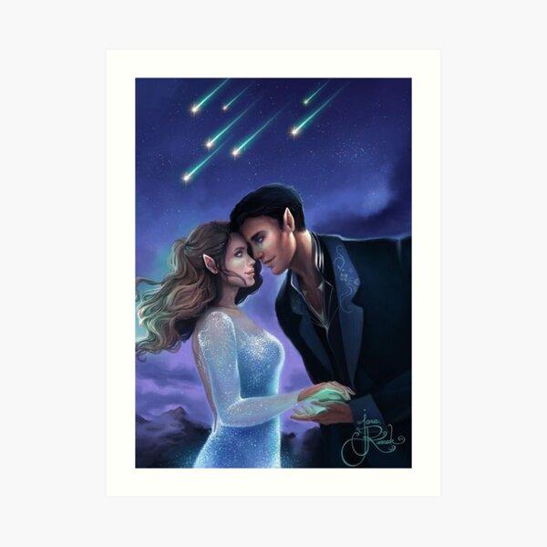 Feyre and Rhysand ACOTAR Sarah J Maas Art Print