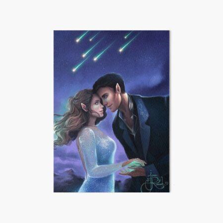 Feyre and Rhysand ACOTAR Sarah J Maas Art Board Print