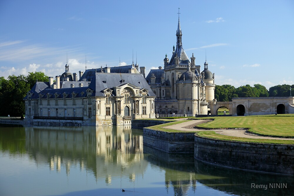 Chantilly, the castle during summer, Oise, France. by Remy NININ