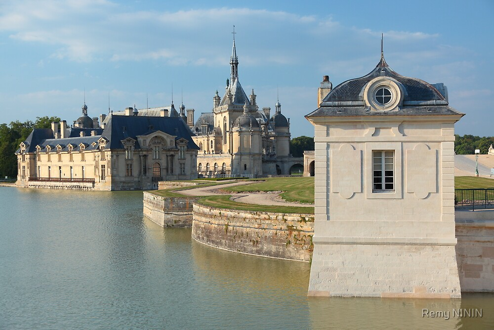 Chantilly, the castle and the little house, Oise, France. by Remy NININ