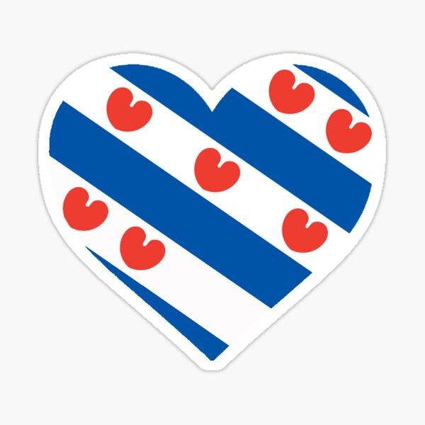 Friese Flag Love Heart, Fryslan Boppe Sticker