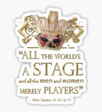 Shakespeare As You Like It Stage Quote Sticker