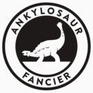 Ankylosaur Fancier Tee (Black on Light) by David Orr