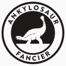 Ankylosaur Fancier Tee (Black on Light) by David Orr
