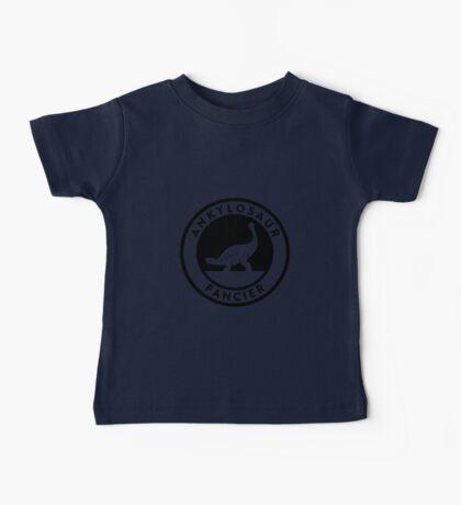 Ankylosaur Fancier Tee (Black on Light) Kids Clothes