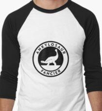 Ankylosaur Fancier Tee (Black on Light) Men's Baseball ¾ T-Shirt