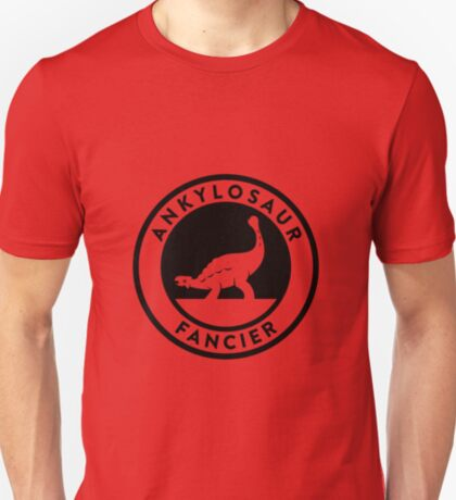 Ankylosaur Fancier Tee (Black on Light) T-Shirt