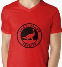 Ankylosaur Fancier Tee (Black on Light) Mens V-Neck T-Shirt