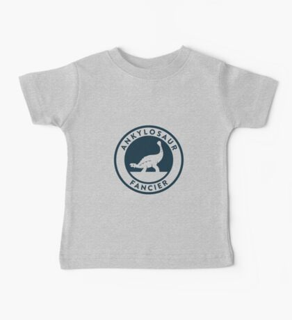 Ankylosaur Fancier Tee (Blue on White) Kids Clothes