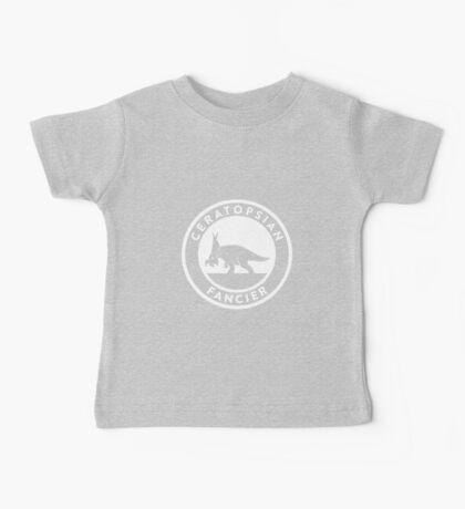 Ceratopsian Fancier Tee (White on Dark) Kids Clothes
