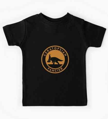 Ceratopsian Fancier Tee (Mustard on White) Kids Clothes